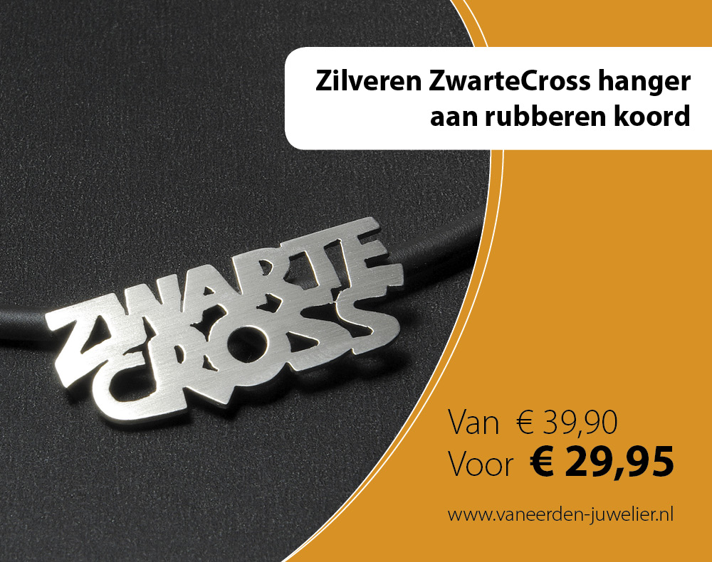 zwarte cross hanger